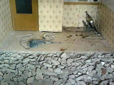 утепление бетонного пола керамзитом 1
